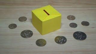 как сделать оригами копилку из бумаги