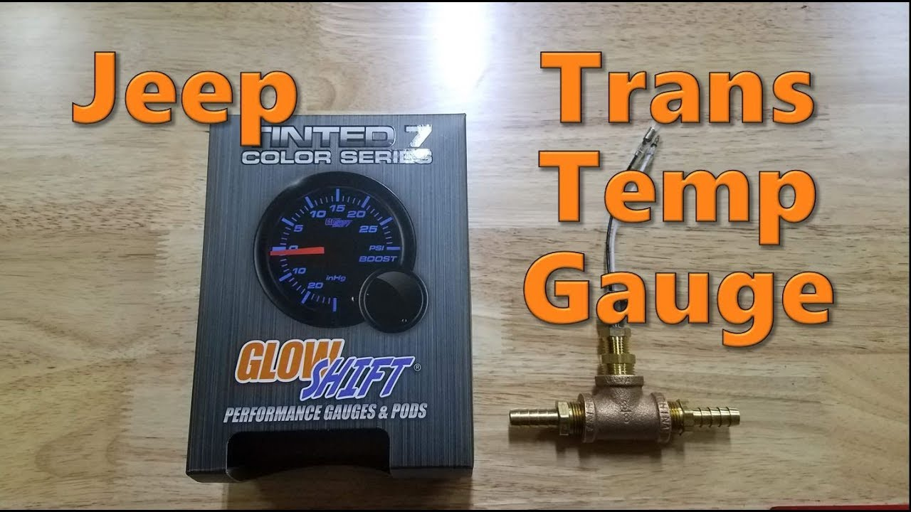 medium resolution of jeep cherokee transmission temperature gauge install