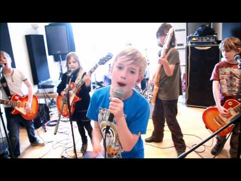 The Mini Band practice a hybrid song for a big music competition