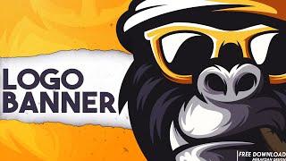 Free Professional YouTube Logo | Free youtube logo and banner template psd [ gorilla logo ]#28