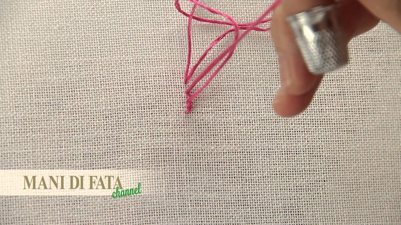 Mani Di Fata Punto Erba Stem Stitch Punto De Tallo Youtube