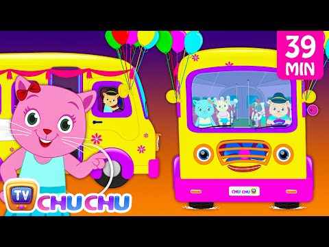 Thumbnail: Wheels On The Bus Plus Many More Nursery Rhymes | Cartoon Songs for Kids | Cutians | ChuChu TV
