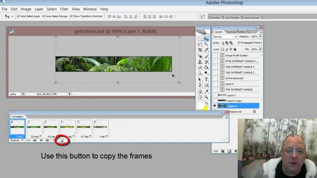 How to make an animated gif banner in Photoshop