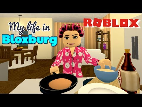 Bloxburg Day Routine - Grocery Shopping & Hair Salon Job -  Roblox Roleplay