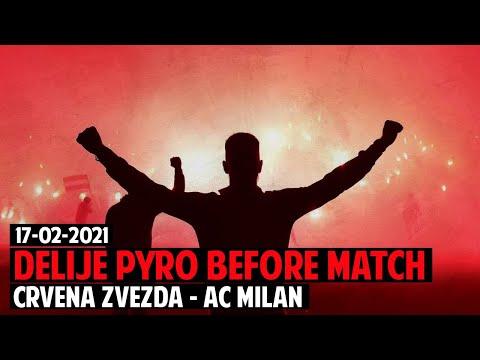 Crvena Zvezda-Milan 2:2 | Delije Pyroshow Before Match | Spektakularna Delija Zvezde – Milanom