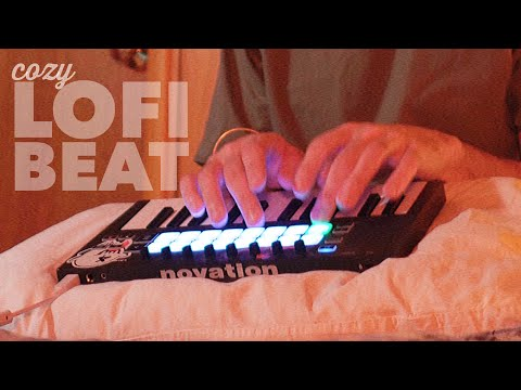 making a cozy lofi chill beat in my cabin bedroom at midnight with the novation launchkey mini mk3