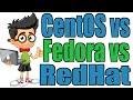 CentOS vs Fedora vs RedHat