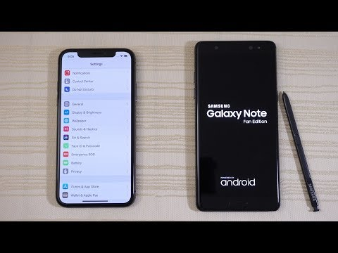 Download Youtube: iPhone X vs Galaxy Note FE - Speed Test! (4K)