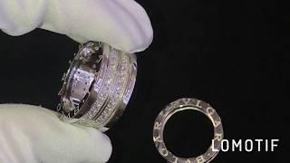 Обручальные кольца BVLGARI из белого золота с бриллиантами