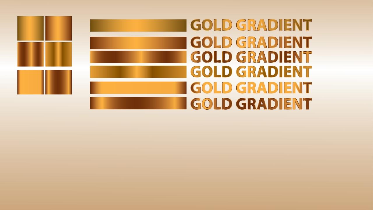 Golden Gradient In Illustrator Cc 2017 Youtube