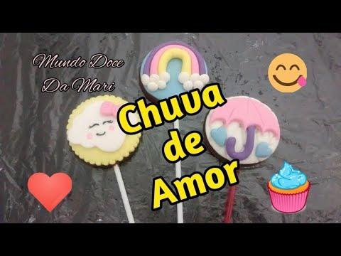 Pirulitos Personalizados Chuva de Amor (PASSO A PASSO)