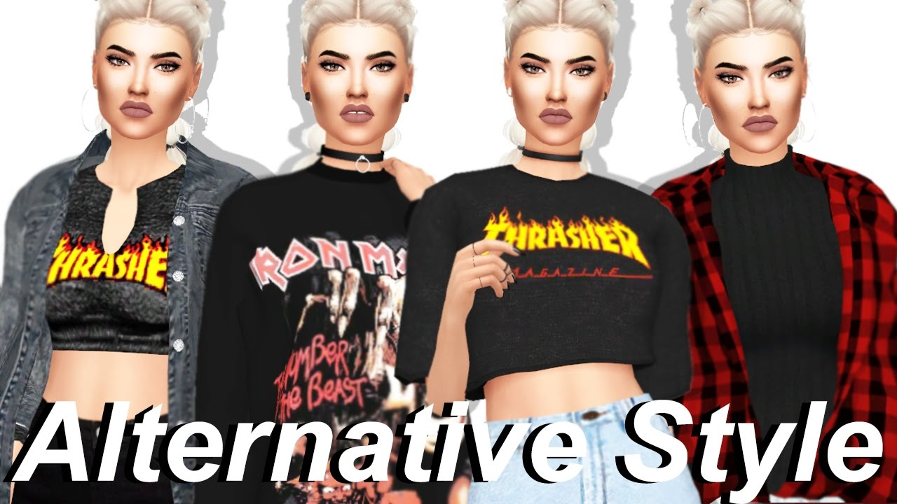 The Sims 4 Alternative Style Lookbook Full Cc List Sim Download