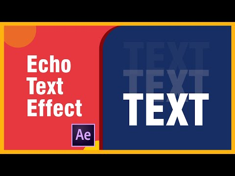 Echo Text Effect - After Effects Tutorial