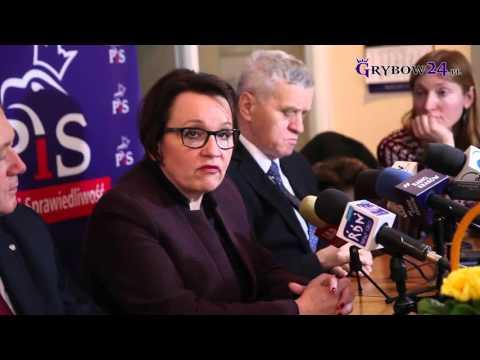 Grybów24.pl - Minister Anna Zalewska o debatacie w sprawie oświaty