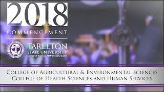 Commencement ceremony for the college of agricultural sciences and environmental health human services.
