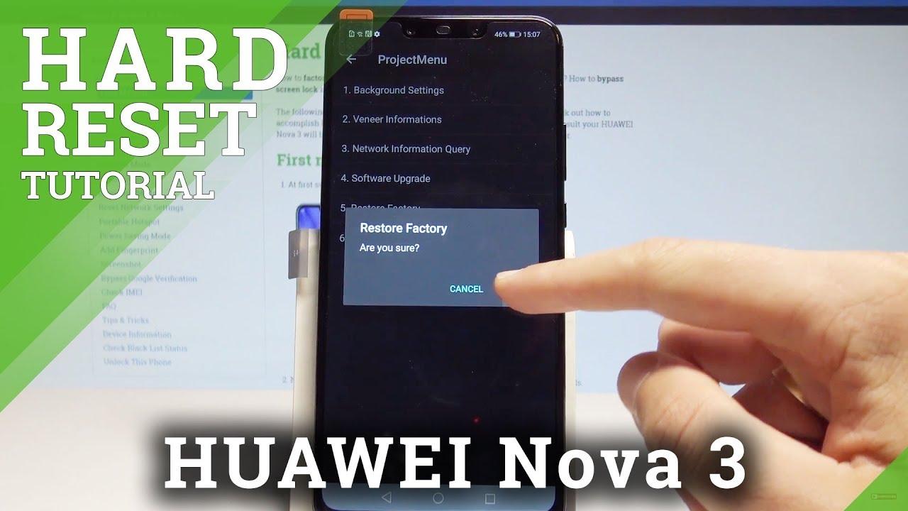 How to Hard Reset HUAWEI Nova 3 - Reset Code / Wipe Data |HardReset Info