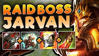RAIDBOSS JARVAN BUILD! THIS UNKILLABLE JARVAN IS UNSTOPPABLE! JARVAN TOP SEASON 7! League of Legends
