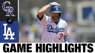 Rockies vs. Dodgers Highlights (7/25/21) | MLB Highlights