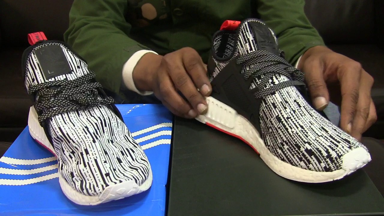 fd03c4fa99503 Adidas NMD  XR1 PK - White Camo - Real vs Fake - YouTube