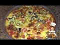 طريقة عمل البيتزا طريقة عمل البيتزا الشرقي بالسجق || حشوه داخلي وكمان من فوق تحفه فيديو من يوتيوب