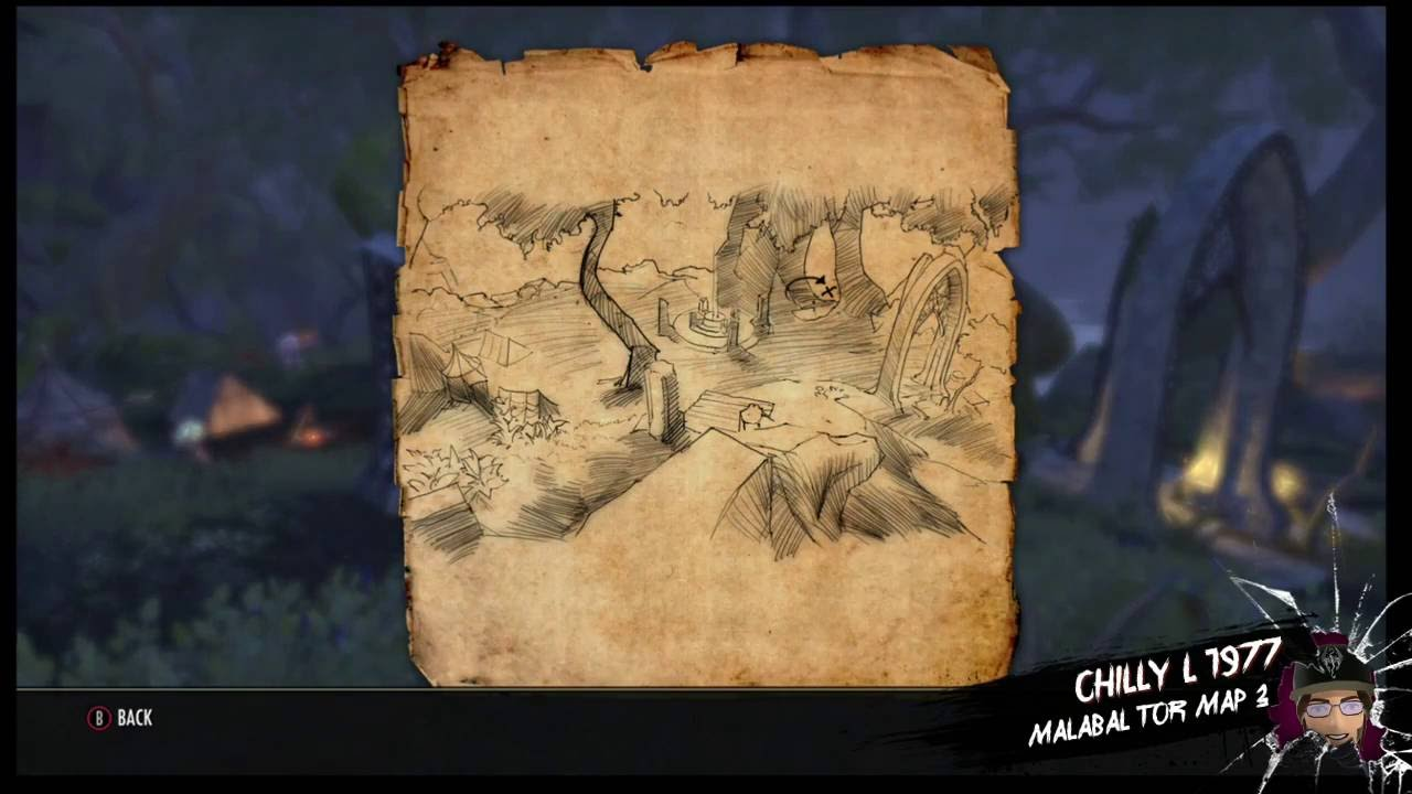 The Elder Scrolls Online Malabal Tor treasure map 3 iii on elder scrolls online map, grahtwood map, greenshade map, reapers march map,