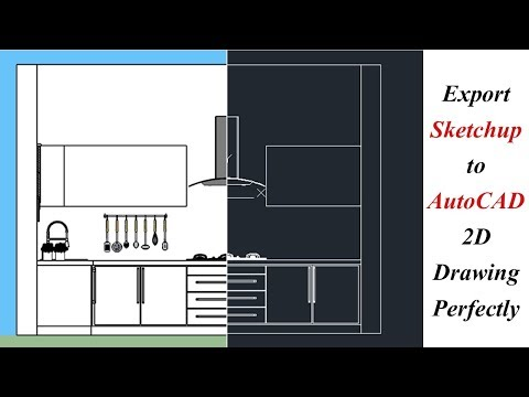 Export Sketchup To Autocad 2D Drawing Perfectly | Export 2D Line Drawing From Sketchup