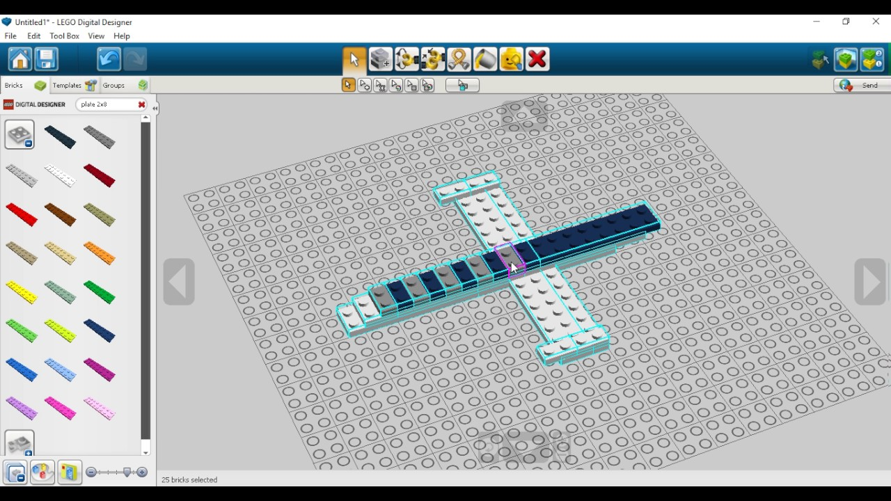 Aeroplano Con Lego Digital Designer Youtube
