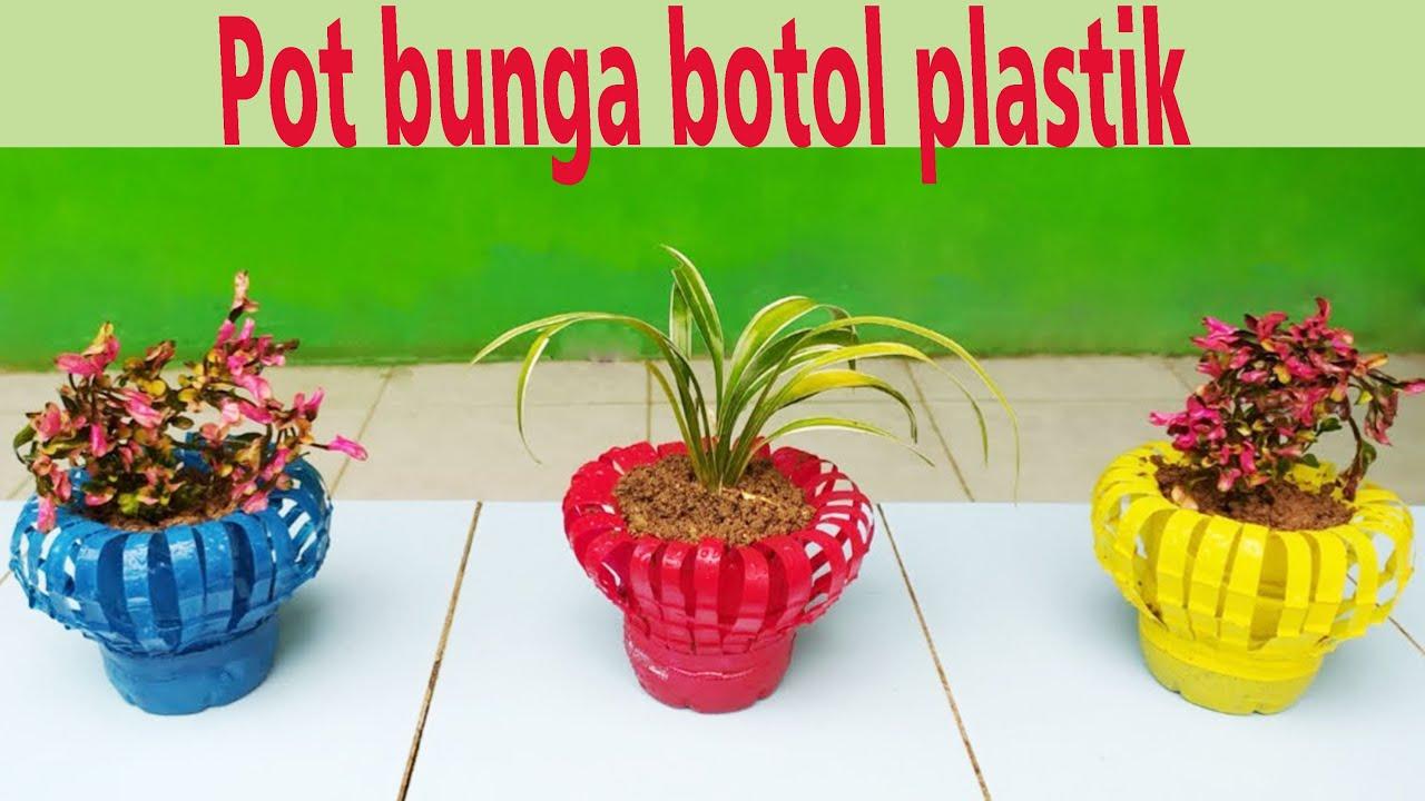 Cara Membuat Pot Bunga Dari Botol Plastik Bekas Ide Kreatif Dari Botol Plastik Youtube Pot tanaman dari botol bekas