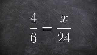 Applying cross multiplication t๐ solve a proportion
