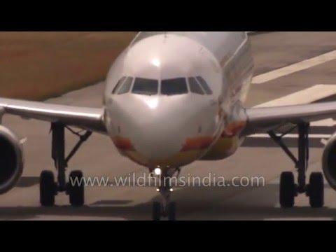Bhutan Airways Airbus powers into Paro valley for spectacular landing