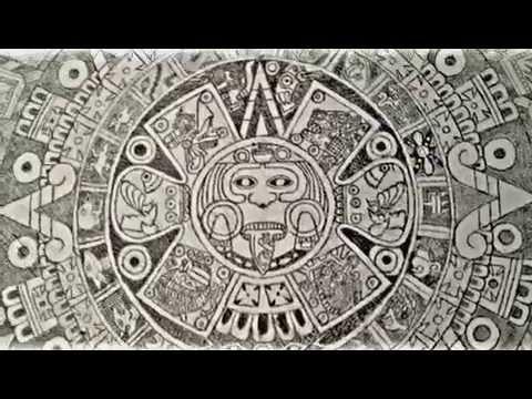 Calendario Azteca A Lapiz Youtube