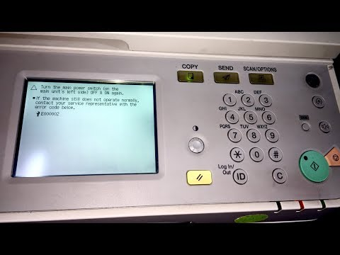 canon ir2525 error code e000002 problem solution