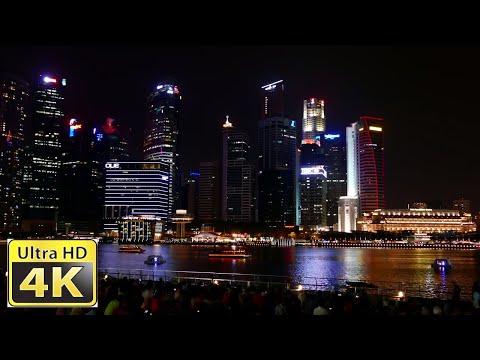 Singapore Light & Water Show / Amazing low light 4k video ultra hd