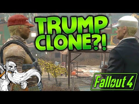 DONALD TRUMP VS...CLONE DONALD TRUMP?!? - Let's Play Modded Fallout 4 Sim Settlements Zombie Walkers