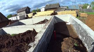 Этапы строительства фундаменты // Жизнь в деревне