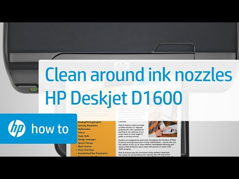 Cleaning the Area Around Ink Nozzles to Resolve Print Quality Issues - HP Deskjet D1600 | HP