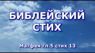 Библейский стих - Евангелие от Матфея глава 5 стих 13