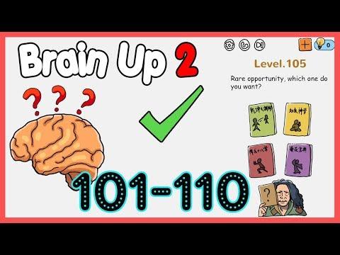 Brain Up 2 Level 101 102 103 104 105 106 107 108 109 110 Walkthrough Solution