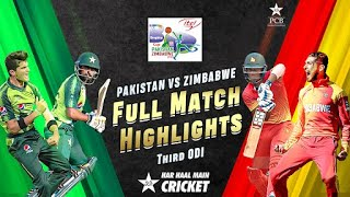 Full Highlights | Pakistan vs Zimbabwe | 3rd ODI 2020 | PCB | MD2T