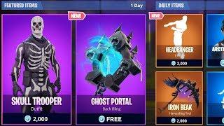 *ALL NEW* ITEM SHOPS LEAKED IN FORTNITE! - Skull Trooper, Ghost Portal & MORE!