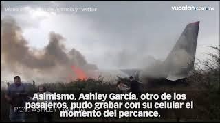Momentos del accidente aéreo en Durango