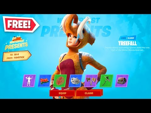*ALL* PRESENTS OPENED In Fortnite! (FREE Skins, Glider, Emotes + MORE)