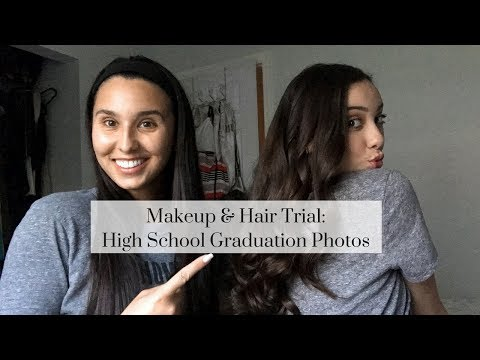 Makeup & Hair Trial For My Sister's High School Graduation Photos | Bisous, Brittany