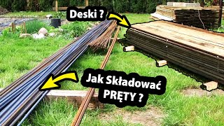 Drewno i Stal na Budowie!!! - Jak je Składować? / Budowa Domu - Fundamenty (Część 2/47)
