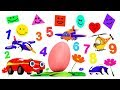 Surprise egg toys for kids | vehicle cartoon for kids | learning cartoons | preschool learning toys