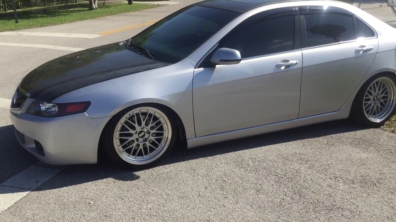 Lowerd Acura TSX First Car YouTube - Acura tsx lowering springs