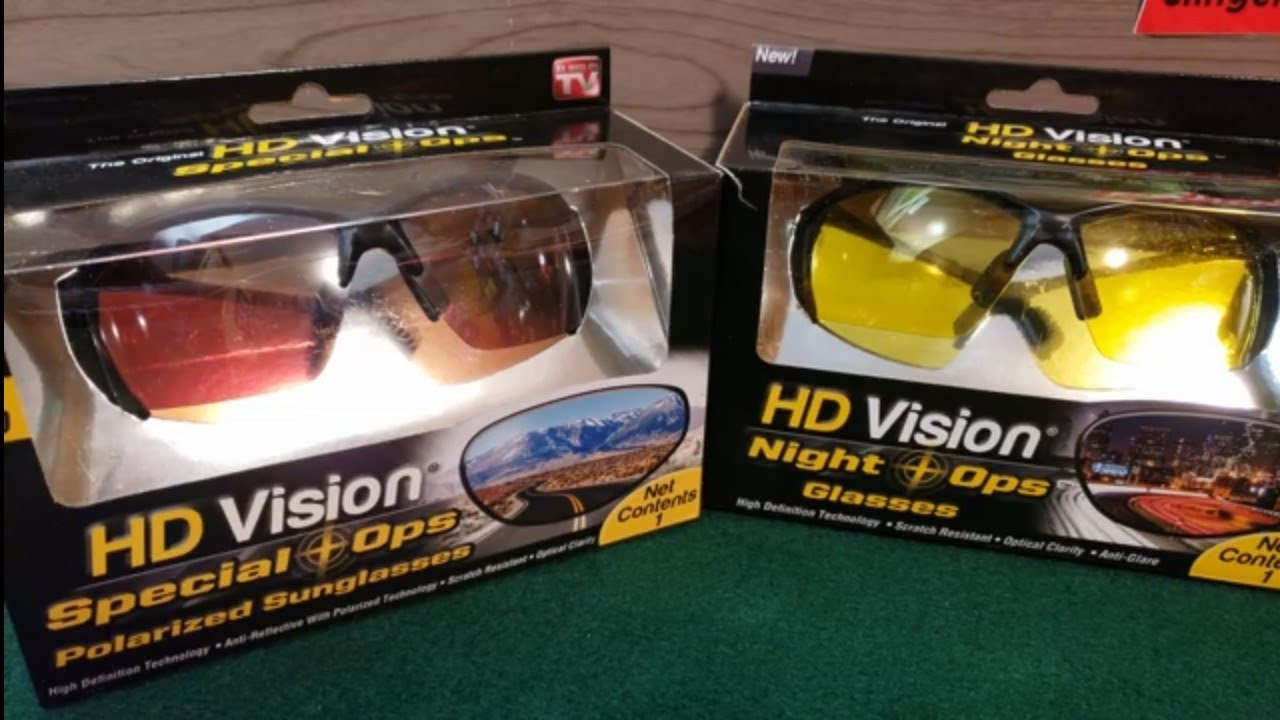HD Vision Special Ops and Night Ops Glasses
