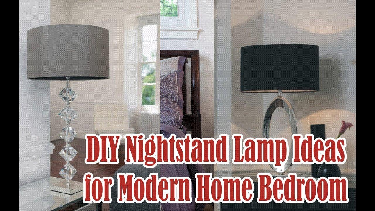 Genial DIY Nightstand Lamp Ideas For Modern Home Bedroom