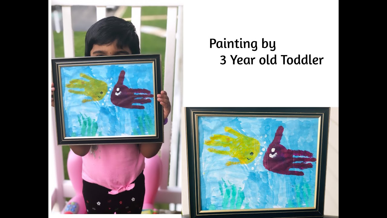 Kid's Painting | 3 Year Old Toddler Painting | Craft Activity | Fine Motor Skill