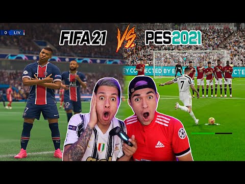 FIFA21 Vs PES2021 ⚽️ PSG vs Liverpool | JUVENTUS vs Manchester United | Gameplay Comparacion